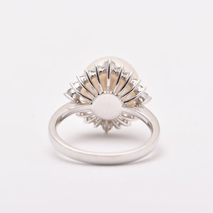 South Sea Pearl and Diamond Halo Dress Ring