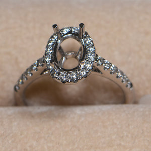 Engagement Ring Oval 1 Carat Diamond Ring Setting by Cartmer
