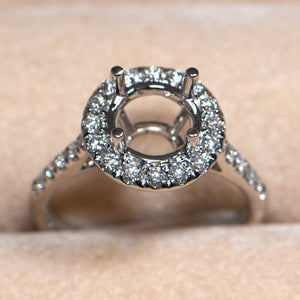 Engagement Ring Round 2 Carat Diamond Ring Setting by Cartmer