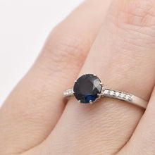 Australian Sapphire 8 Claw Solitaire Engagement Ring