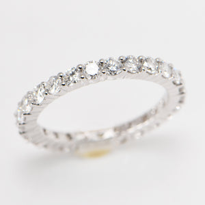 Eternity Wedding Ring Band 1.75 Carat 18 Carat White Gold
