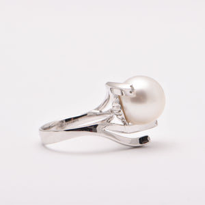 South Sea Pearl and Diamond Abstract Dress Ring