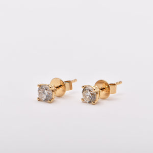 0.68ct Diamond Studs in 18 Carat Yellow Gold
