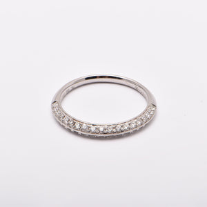 Wedding Ring Diamond Knife Edge