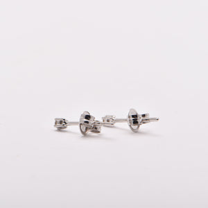 0.03ct Diamond Studs in 18 Carat White Gold