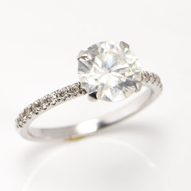 2 Carat Engagement Ring 18 Carat White Gold