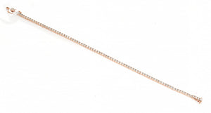 A 2.32CT DIAMOND LINE BRACELET IN 18CT WHITE GOLD, TOTAL LENGTH 180MM