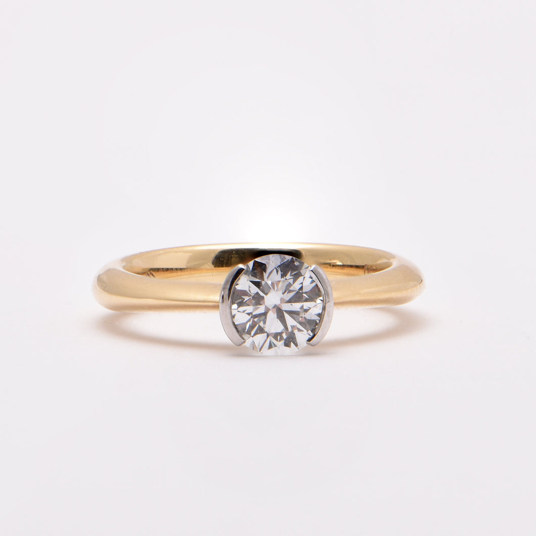 Solitaire Engagement Ring in Round, Princess, Oval Shape