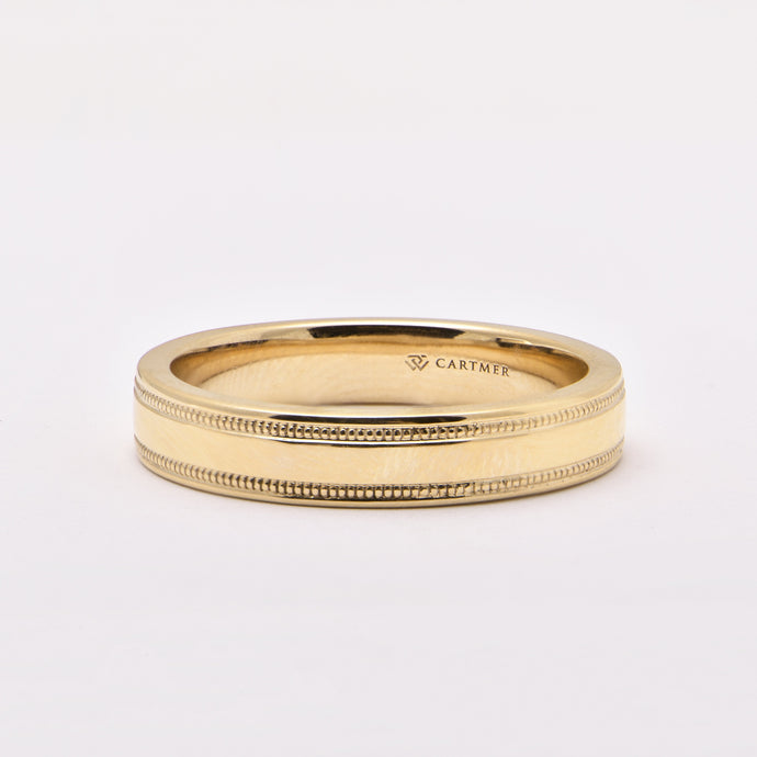 Men's Wedding Ring with Edge Detail