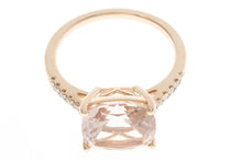 Morganite and Diamond Ring 18 Carat Rose Gold