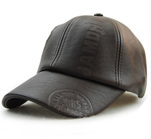 Baseball cap made of leather