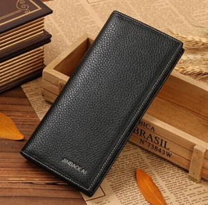 Long men's wallet double