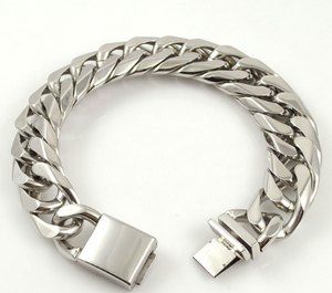 Stainless steel chain bracelet in the style of punk rockers 22 cm * 16 mm