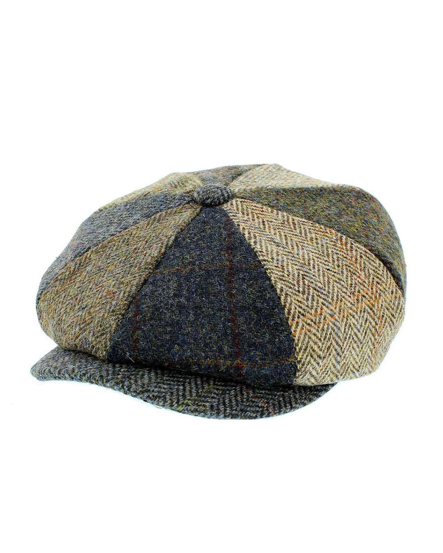 Failsworth Lewis Bakerboy Patchwork Tweed Cap