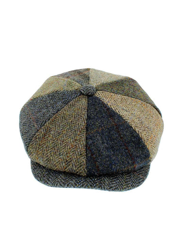 Failsworth Lewis Bakerboy Patchwork Tweed Cap - Revolver Menswear Bawtry