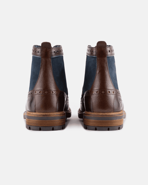 Goodwin Smith Marshall Brown & Navy Leather Brogue Boot
