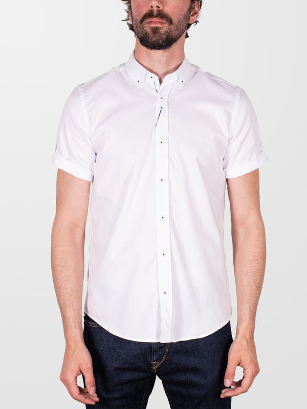 GUIDE LONDON White Plain HS Shirt