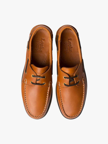 LOAKE 528CD Leather Boat Shoe