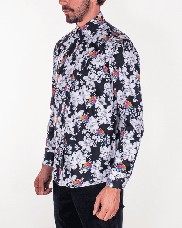GUIDE LONDON Floral Print LS Shirt - Revolver Menswear Bawtry