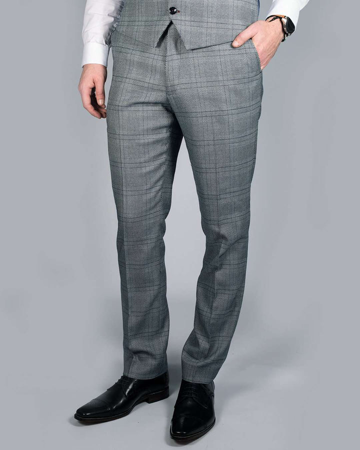 Marc Darcy Jerry Grey Check Trousers