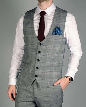 Marc Darcy Jerry Grey Check Blazer