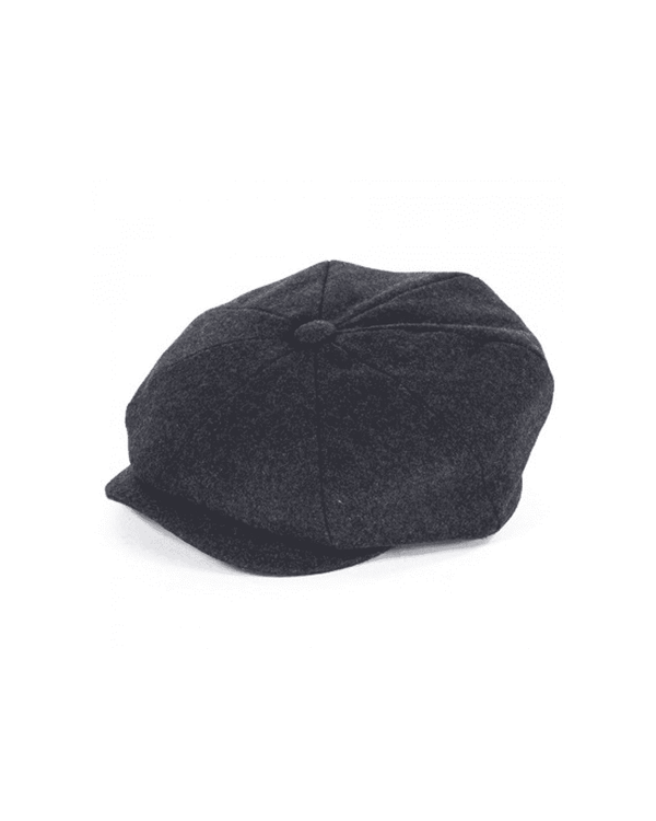 Failsworth Grey Alfie Melton Newsboy Cap - Revolver Menswear Bawtry