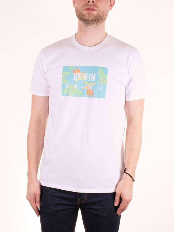 EDWIN Birds of Paradise Printed SS Tee