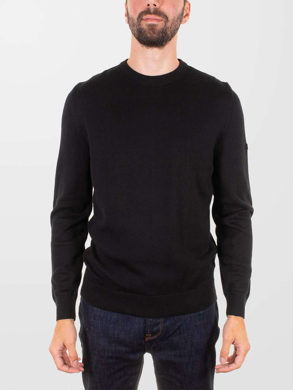 BARBOUR INTL. Baffle Patch Crew Sweater