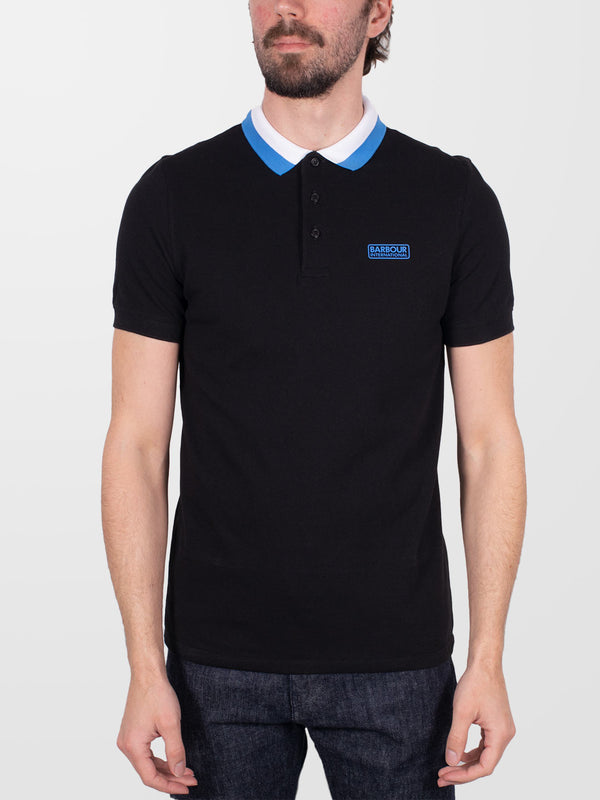 BARBOUR INTL. Black Ampere SS Polo