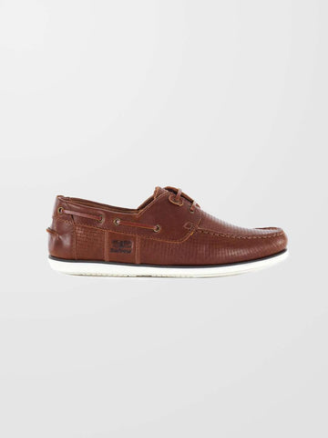 BARBOUR Tan Print Capstan Boat Shoe