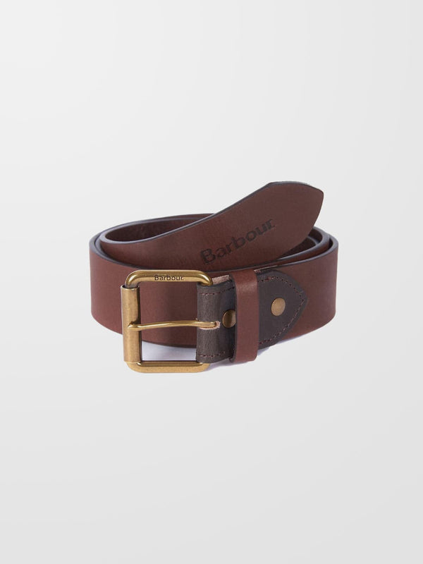 BARBOUR Contrast Leather Belt