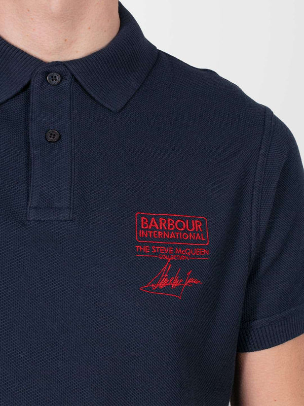 BARBOUR INTL. Navy Steve McQueen™ Chad Polo
