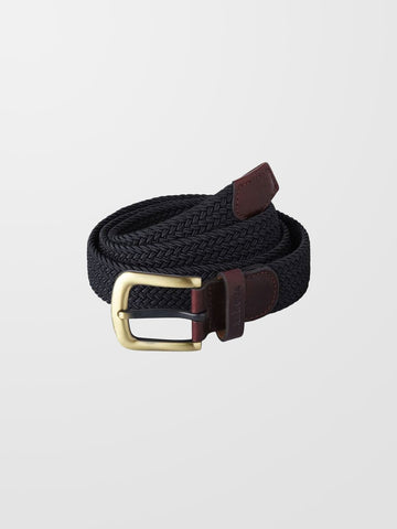 BARBOUR Navy Stretch Webbing Belt