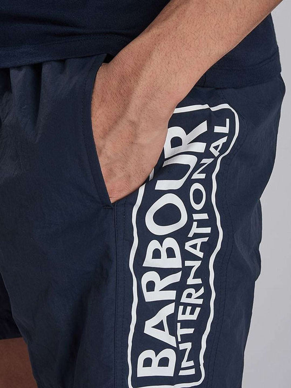 BARBOUR INTL. Large Logo Swim Shorts - Revolver Menswear Bawtry