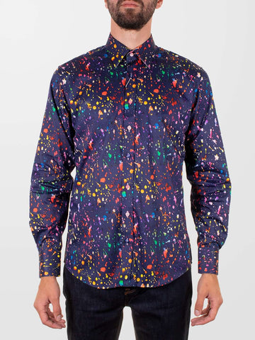 CLAUDIO LUGLI Multi-Colour Splash LS Shirt
