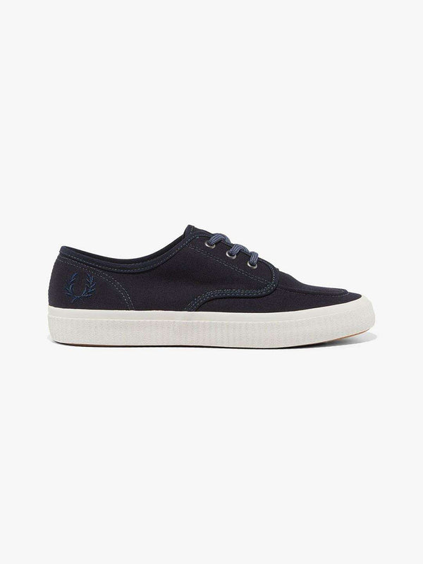 FRED PERRY Ealing Low Canvas Trainers - Revolver Menswear Bawtry