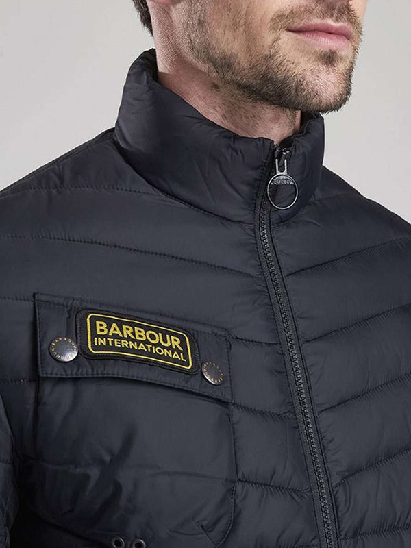 BARBOUR INTL. Black Chain Baffle Quilted Jacket