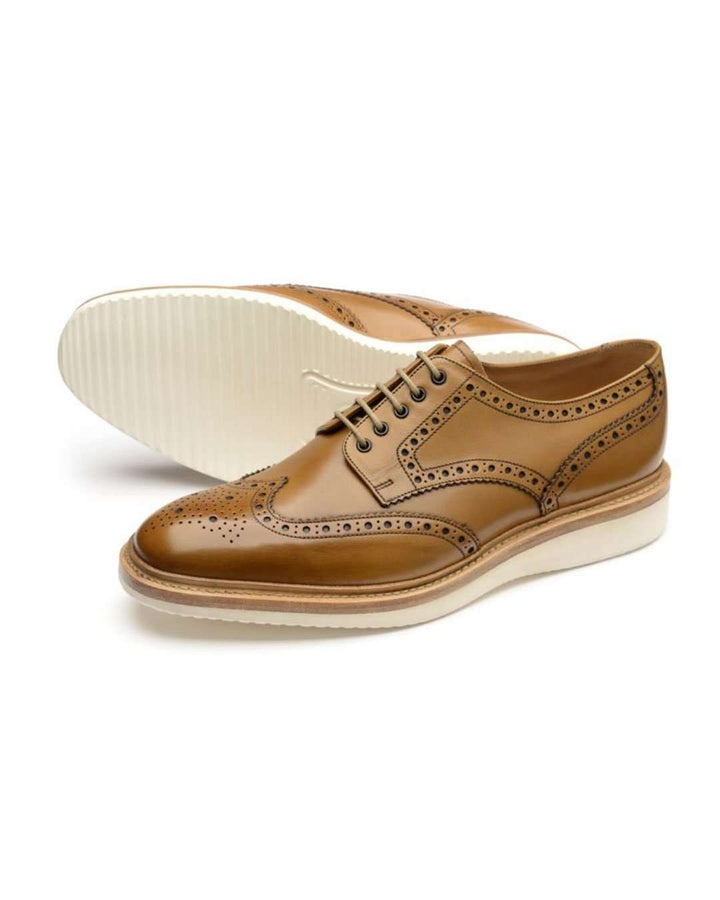 Loake Tan Cobra Brogue Derby