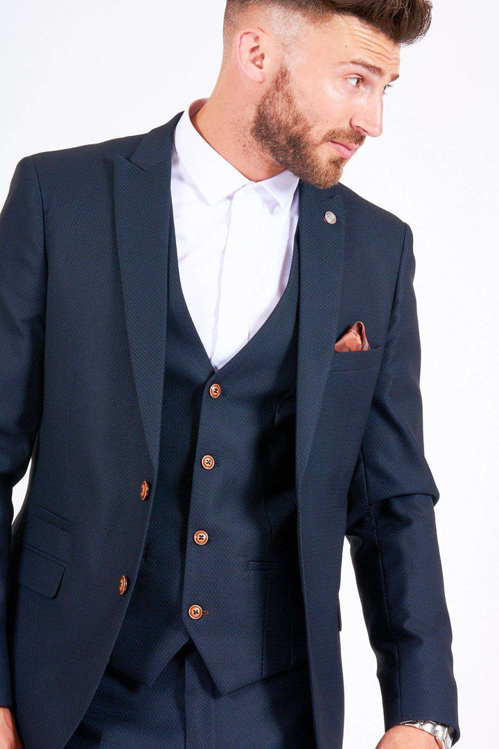 Marc Darcy Navy Max 3 Piece Suit