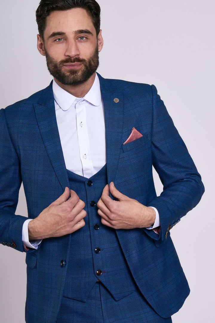 Marc Darcy Jerry Blue Check Blazer