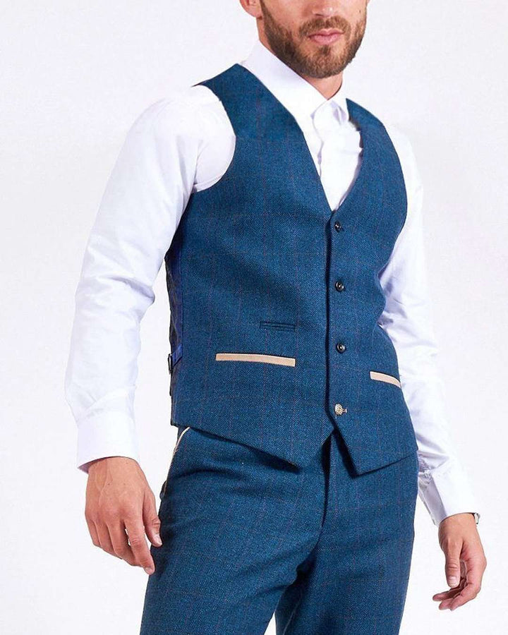 Marc Darcy Dion Blue Waistcoat