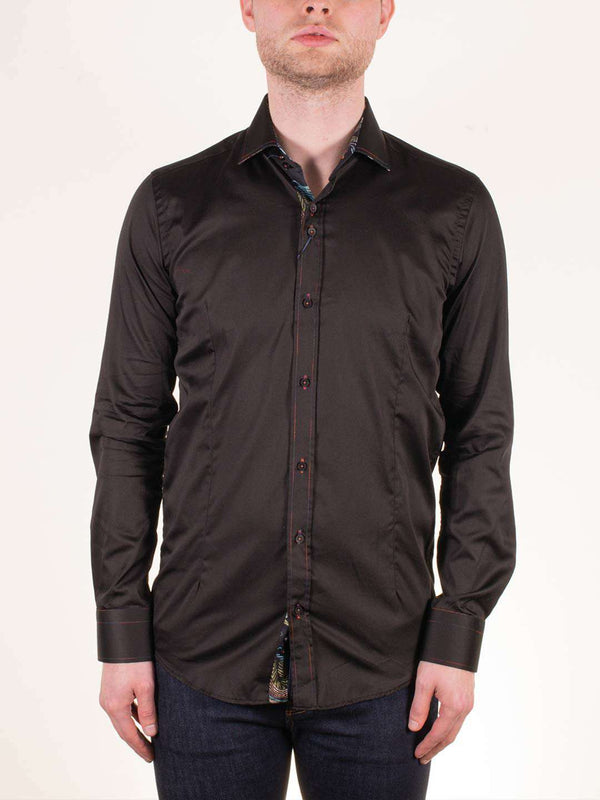 GUIDE LONDON Dragon Detail LS Shirt - Revolver Menswear Bawtry