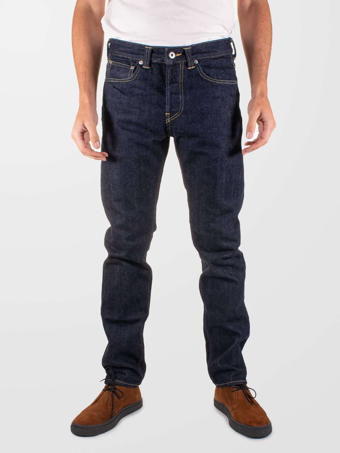 EDWIN ED-80 Red Listed Salvage Denim Jeans