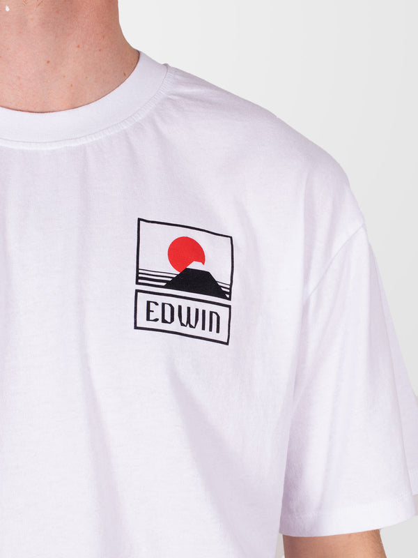 EDWIN White Sunset On Mt Fuji T-Shirt