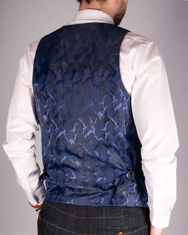 MARC DARCY Eton Tweed Check Single Breasted Waistcoat - Revolver Menswear Bawtry