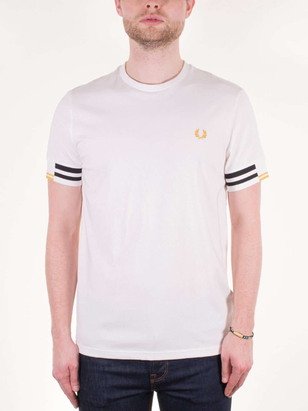 FRED PERRY SS Abstract Cuff T-Shirt