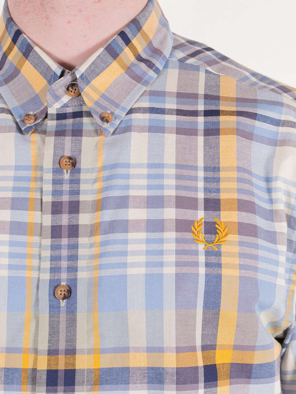 FRED PERRY SS Tartan Shirt Golden