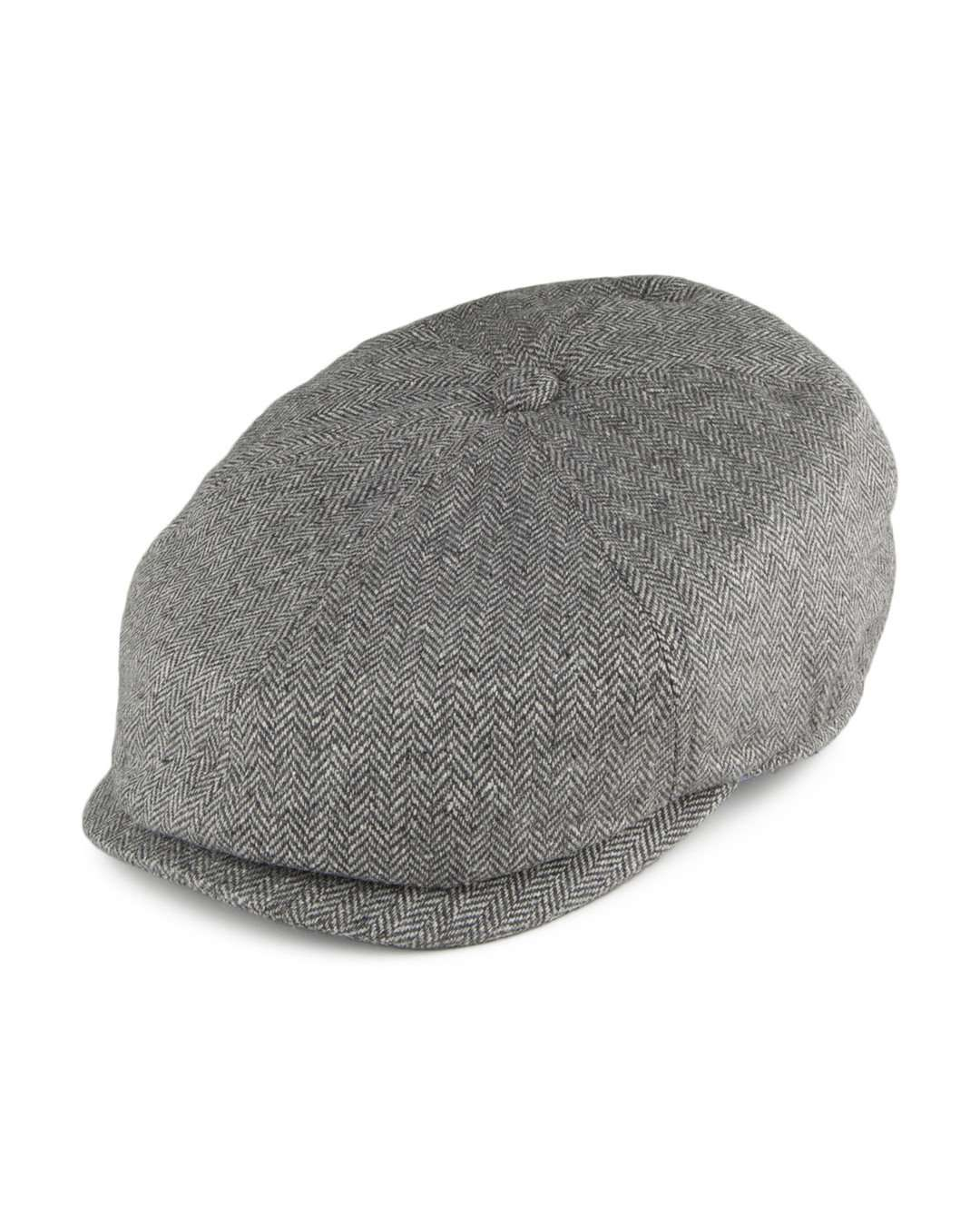 Failsworth Grey Silk Mix Hudson Newsboy Cap - Revolver Menswear Bawtry