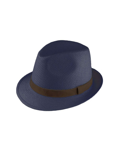 Failsworth Navy 70's Straw Trilby - Revolver Menswear Bawtry