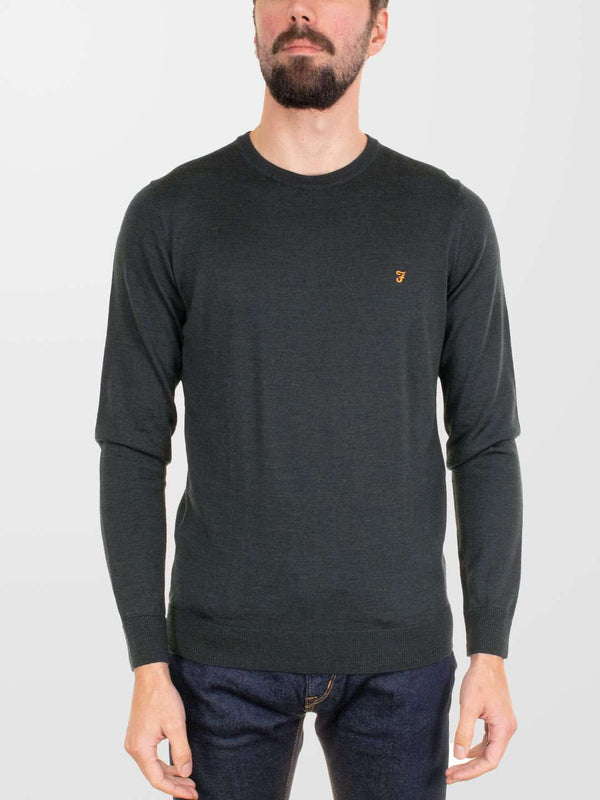 FARAH Mullen Wool Crew Sweater